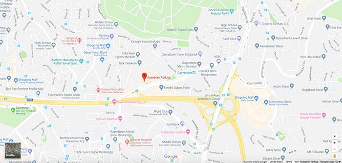 Autodesk Türkiye Google Maps