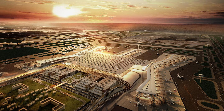 İstanbul Yeni Havalimanının yapılışı
