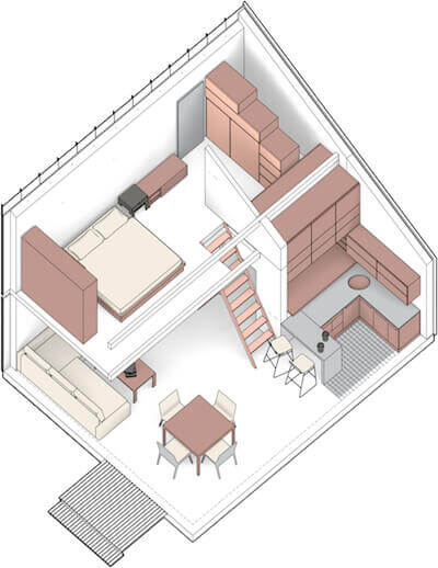 positive energy building solace house layout