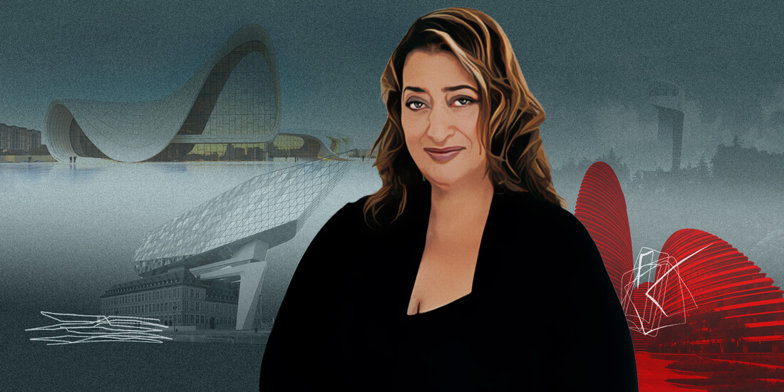 Architect Zaha Hadid.