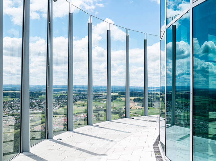thyssenkrupp test tower observation platform