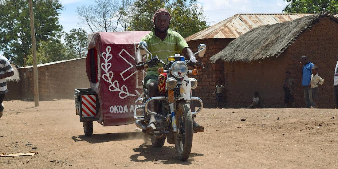 motosiklet ambulansı