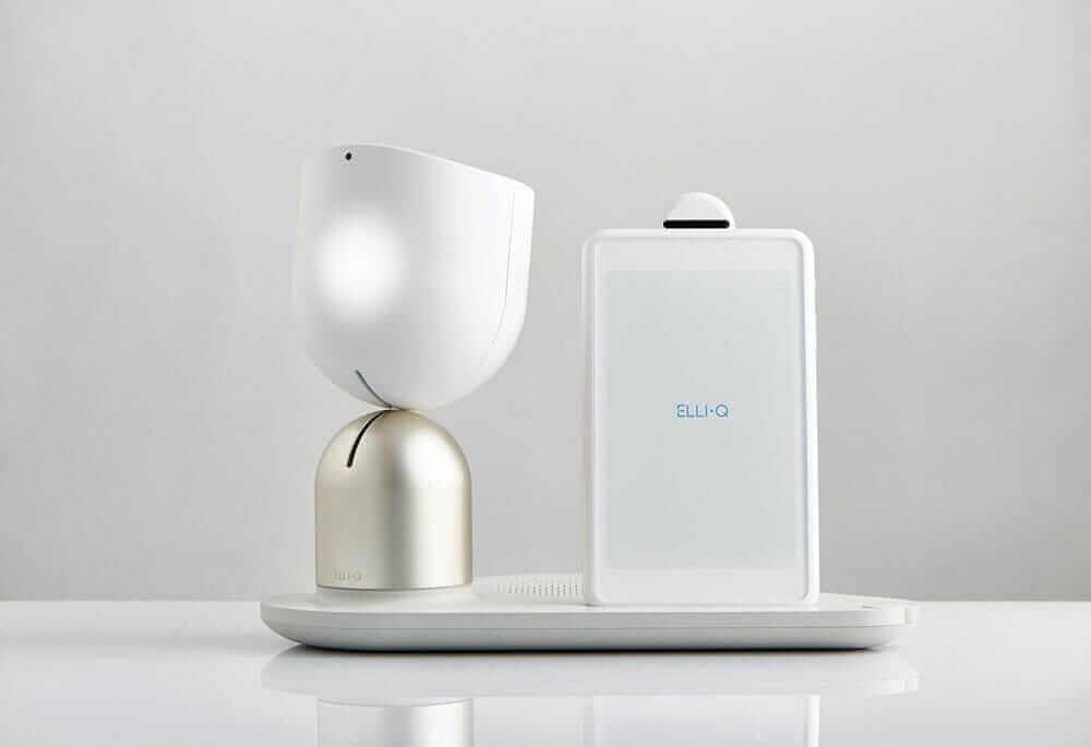 Intuition robotics firmasının sağlık hizmeti robotları elli-q