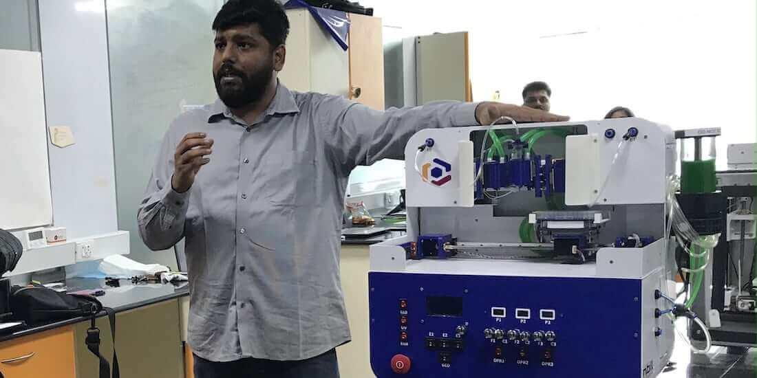 biyobaskı deri Innovation Labs Piyush Padmanabhan Trivima 3B biyoyazıcı