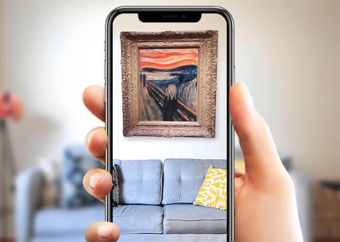 cuseum uygulama artırılmış gerçeklik sanat