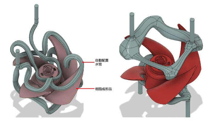 enjeksiyon kalıplama soğutma üretken tasarım havalandırma kanatları