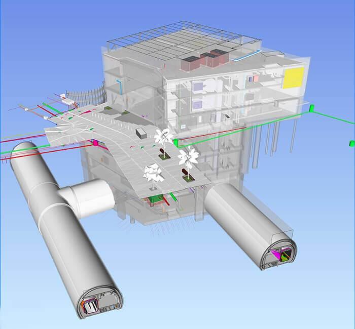 auckland toplu taşıma dijital model kesiti karangahope istasyonu