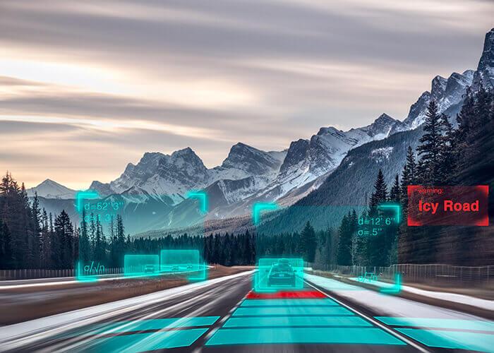 gelecek karayolu altyapıları dağlar görünüm