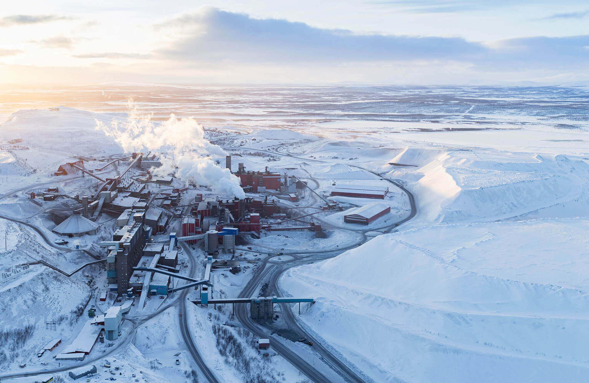 isveç kiruna kasabası madencilik faaliyetleri